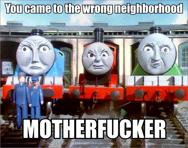 Thomas the tank - wrong neighborhood