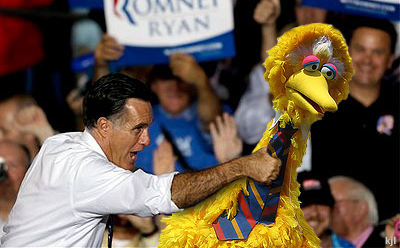 Romney Grabs Big Bird