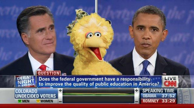 Romney-Obama-Big Bird Debate