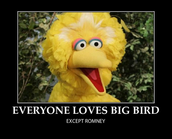 Everyone Loves Big Bird, Except Romney