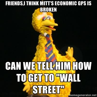 Friends, I think Mitt's Economic GPS is Broken