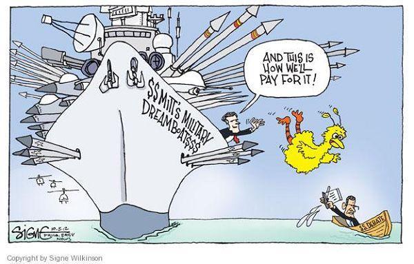 Mitt Throws Big Bird Overboard