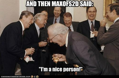 Typical Max bashing post.