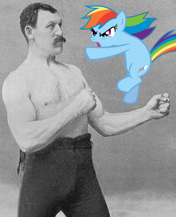 overly manly rainbow dash