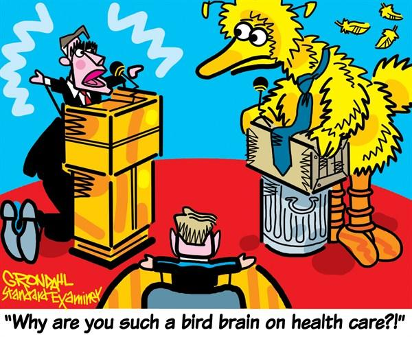 Why are you such a Big Brain on Healthcare? - Romney debates Big Bird
