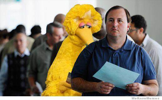 Big Bird Unemployment Line