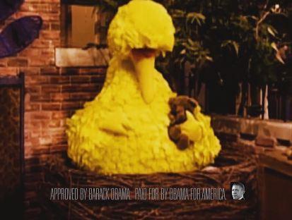 Obama Big Bird Political Ad Still