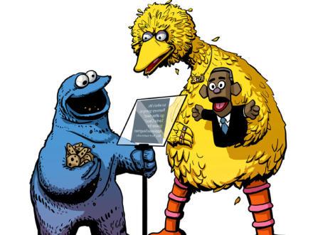 Cookies Monster vs. Big Bird - Obama?