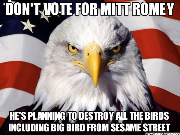 "Don't Vote for Mitt...He's Planning to Destroy ""All"" the Birds"