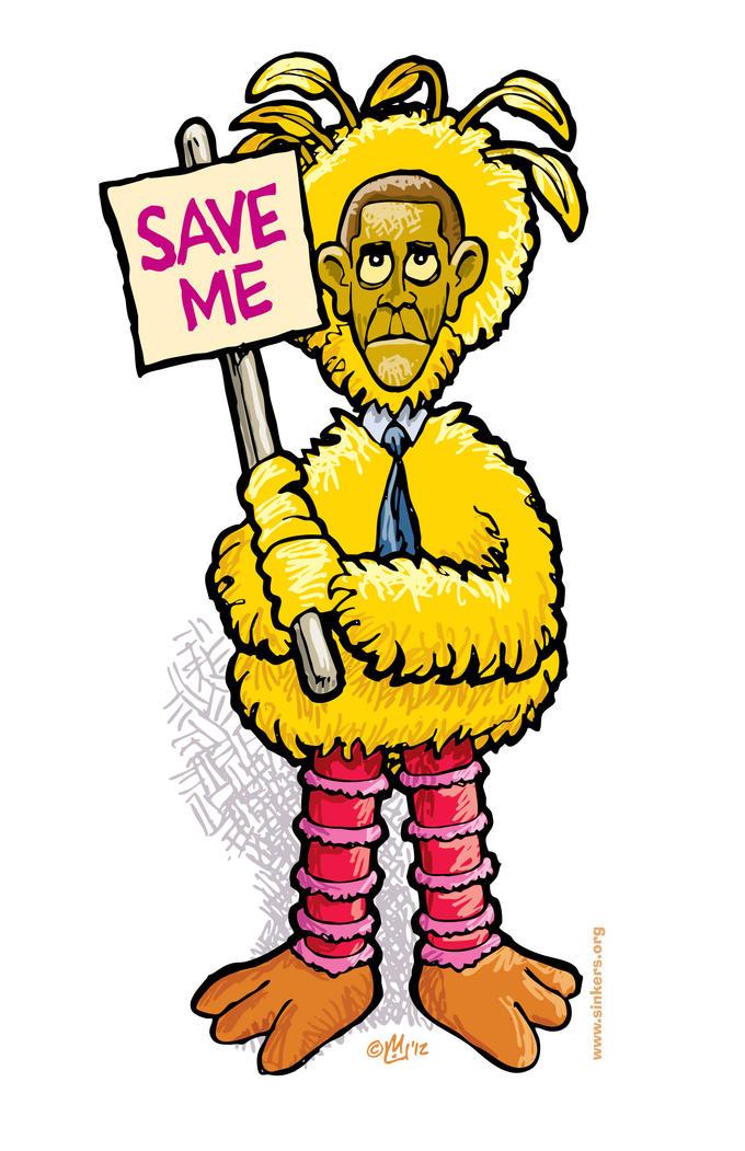 Big Bird Obama Save Me