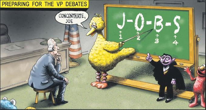 Big Bird Helps Joe Prepare for VP Debates