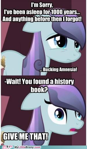 Amnesiac Crystal Pony Needs History Lesson!