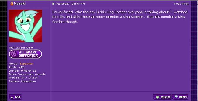 So it's King SombRA?