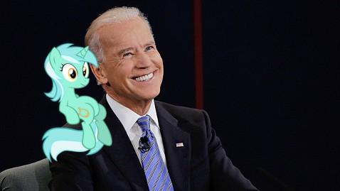 Sitting Lyra/Laughing Joe Biden