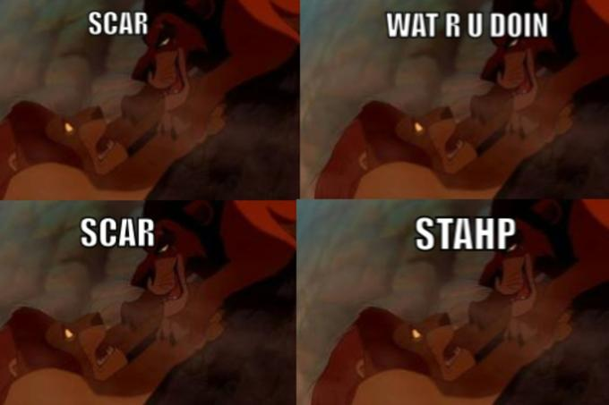Mufasa is butthurt