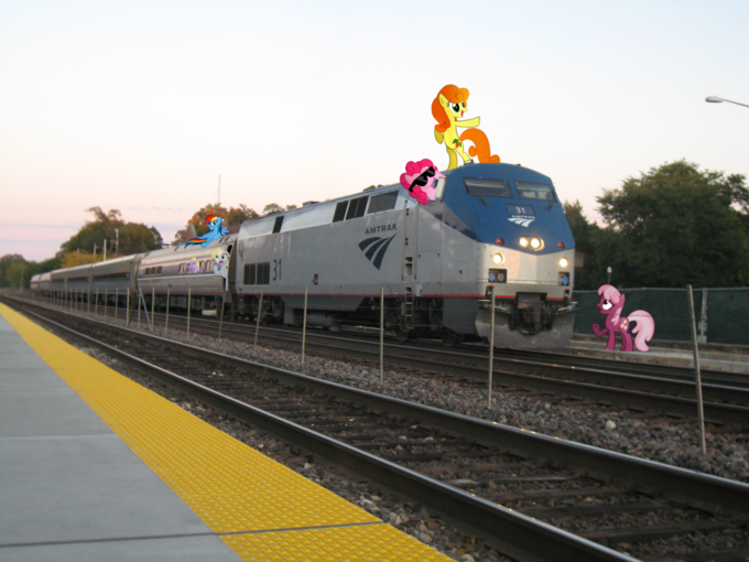 Amtrak and Ponies