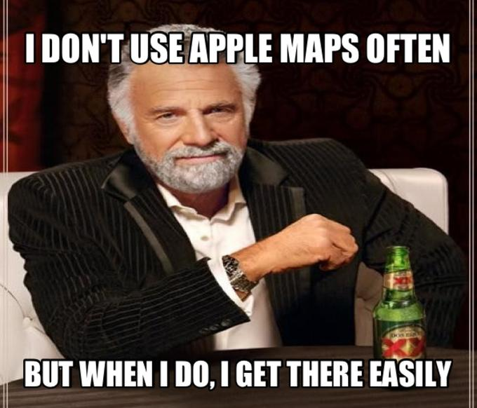 I don't use apple maps