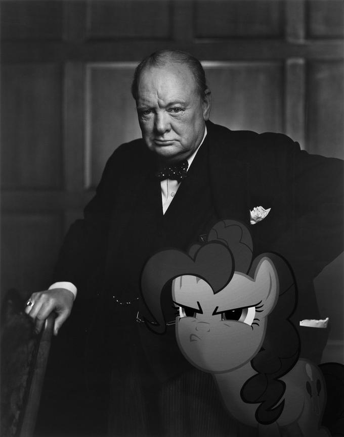 Pinkie and Winston Churchill