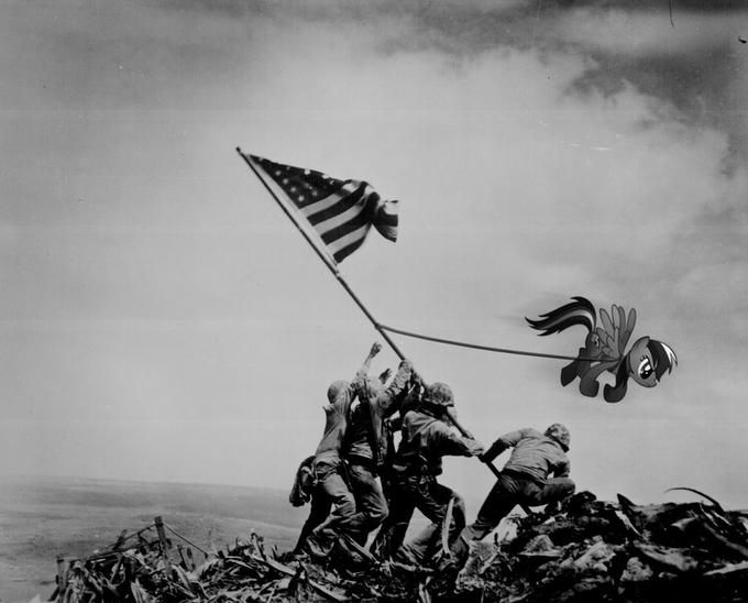 Rainbow Dash on Iwo Jima