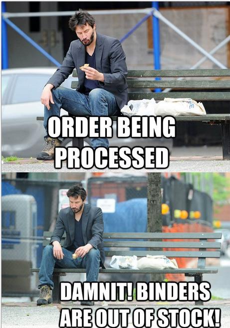 Sad Keanu Reeves Binders