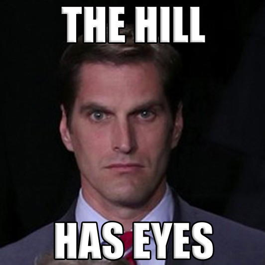 Menacing Josh Romney Hill has eyes