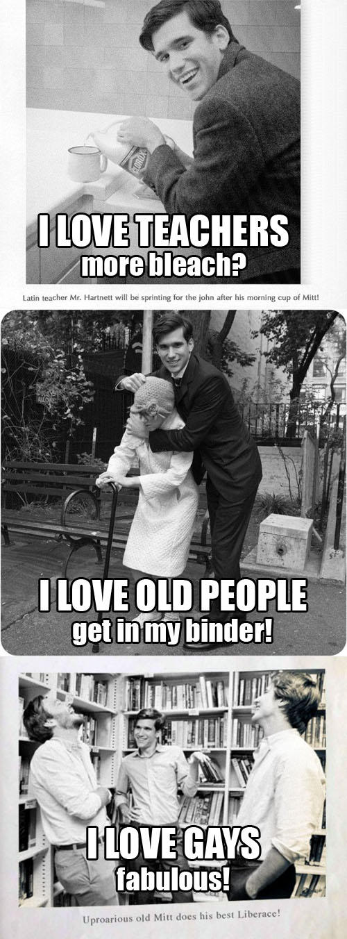 Young Mitt Romney Loves Teachers Too