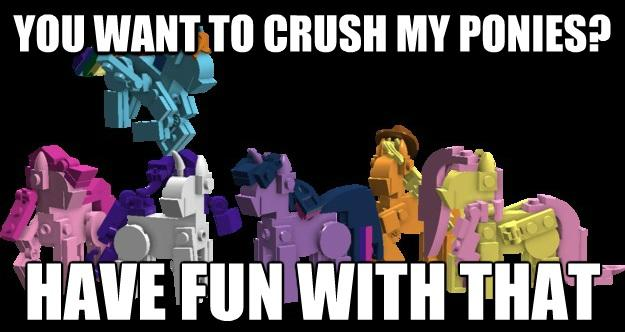 Custom Brick built LEGO MLP