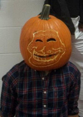 Troll pumpkin head