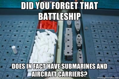 Battleship DOES have submarines and aircraft carriers