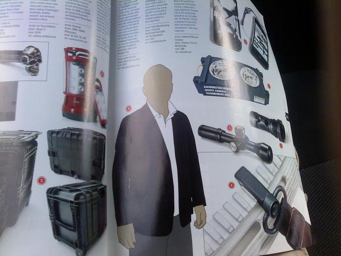Slender Man in a Magazine