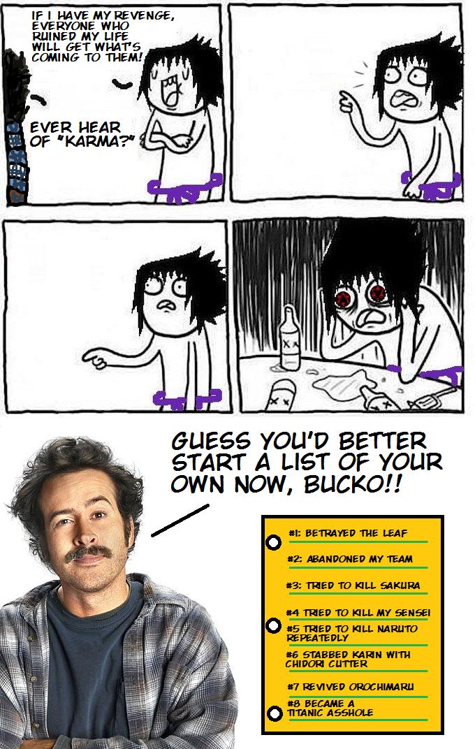Earl Hickey vs. Sasuke Uchiha
