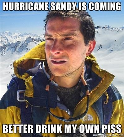 Man vs Hurricane Sandy