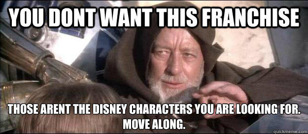 Obi Wan Kenobi Force Suggestion to Disney