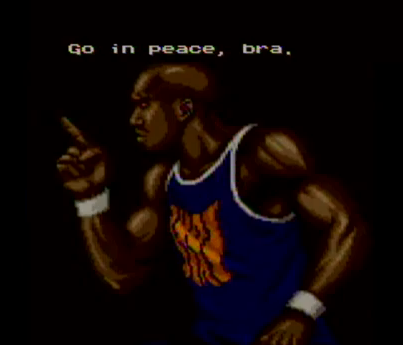 "The original ""Go in peace, bra."""