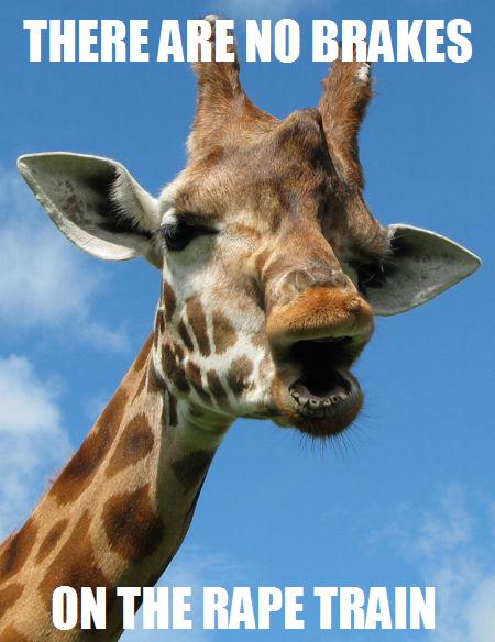 rape train giraffe