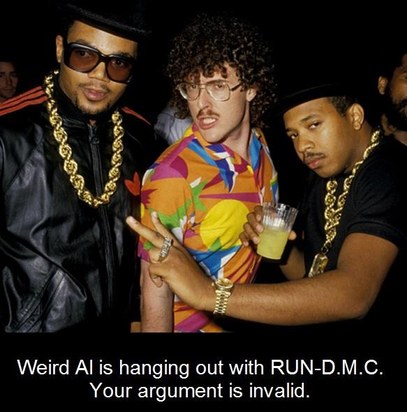 Weird Al is Hanging out with RUN-D.M.C.