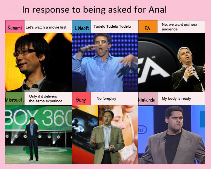 Game companies respond to being asked for Anal