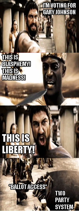 This is Sparta - Gary Johnson Time