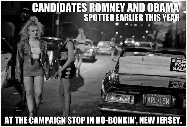 Romney and Obama as political hoes