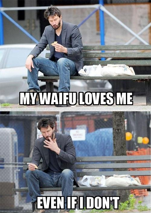Keanu and waifu
