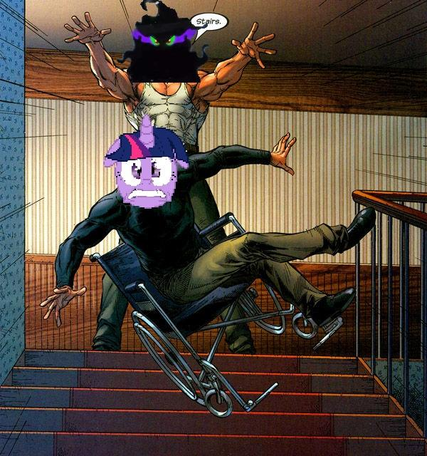Professor Twilight Xavier's True Nemesis: Stairs