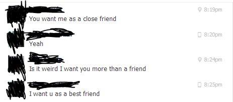 Friendzoned to the max