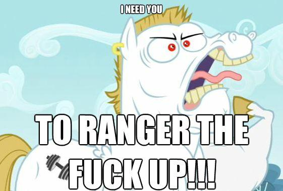 everypony who's anypony is a RRRANGER! derpy hooves! bon bon! nightmare fuckn' moon! zecoRRRANGER!!!g4 twilight sparkle! (we didn't include the g1 twilight sparkle because she's not a RRRANGER!!! UNACCEPTABLE!!!!