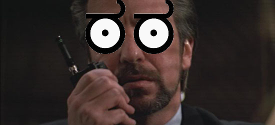 Hans Gruber is disgusted