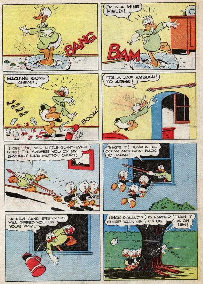 Donald Duck has PTSD