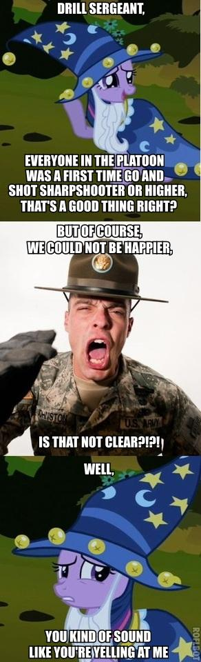 they may be mean, but truth is that drill sergeants care about you more than your parents do