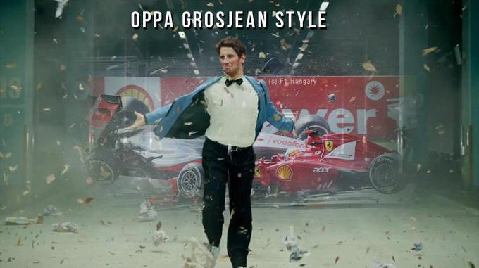 Oppa Grosjean Style