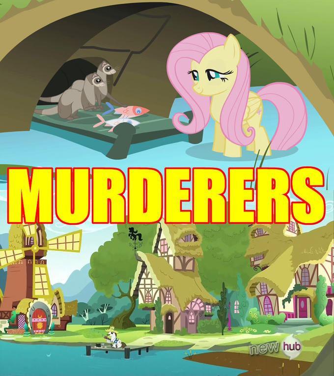 Fish-Killing: They get away with it in Equestria