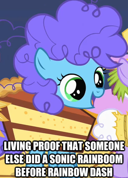 living proof that someone else did a sonic rainboom before rainbow dash