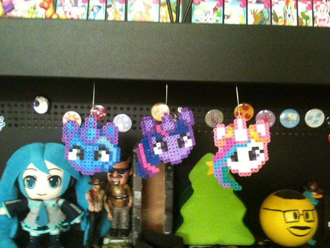 head to triplethreatcustoms on etsy to get pixle pony christmas orniments